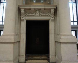 Bundesrat Tür Einbruch- und Durschusshemmung Ansicht innen