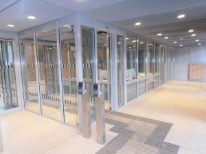 Justizzentrum Bochum – Pförtnerloge Ansicht von außen