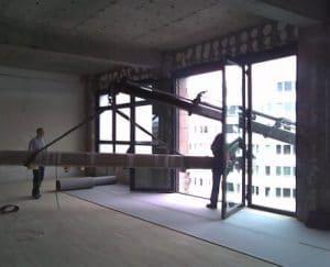 Teleskopschiebetür Befestigung Antrieb