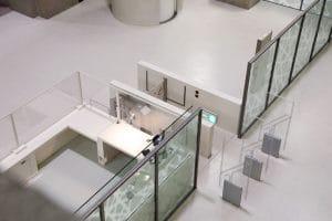 Staatsbibliothek Trennwand mit automatischer Schiebewand
