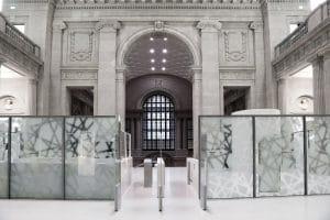 Staatsbibliothek Trennwand mit automatischer Glasschiebewand